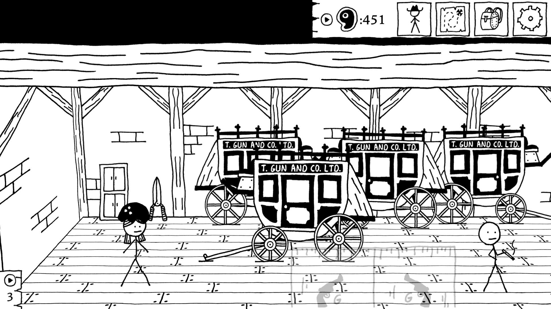 West of Loathing: Reckonin' at Gun Manor screenshot