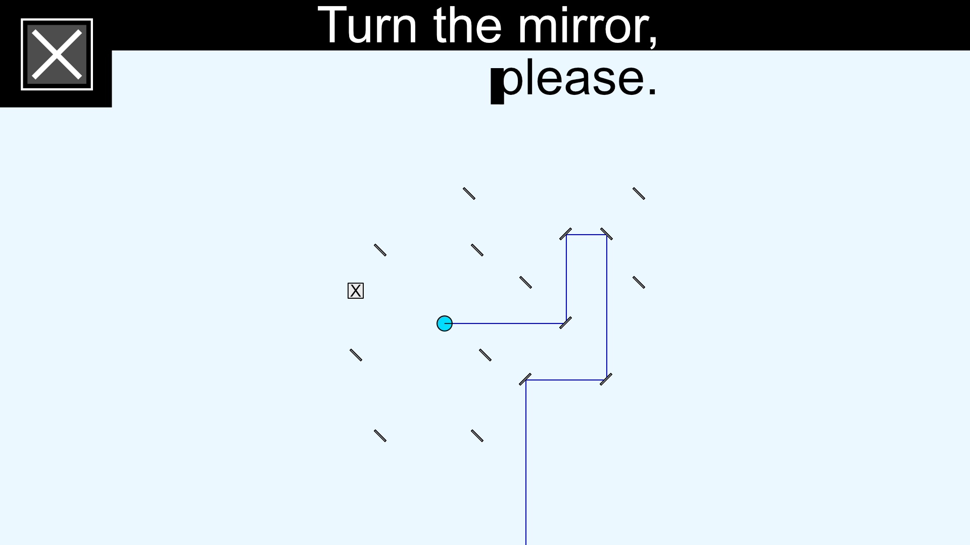 Turn the mirror, please. screenshot