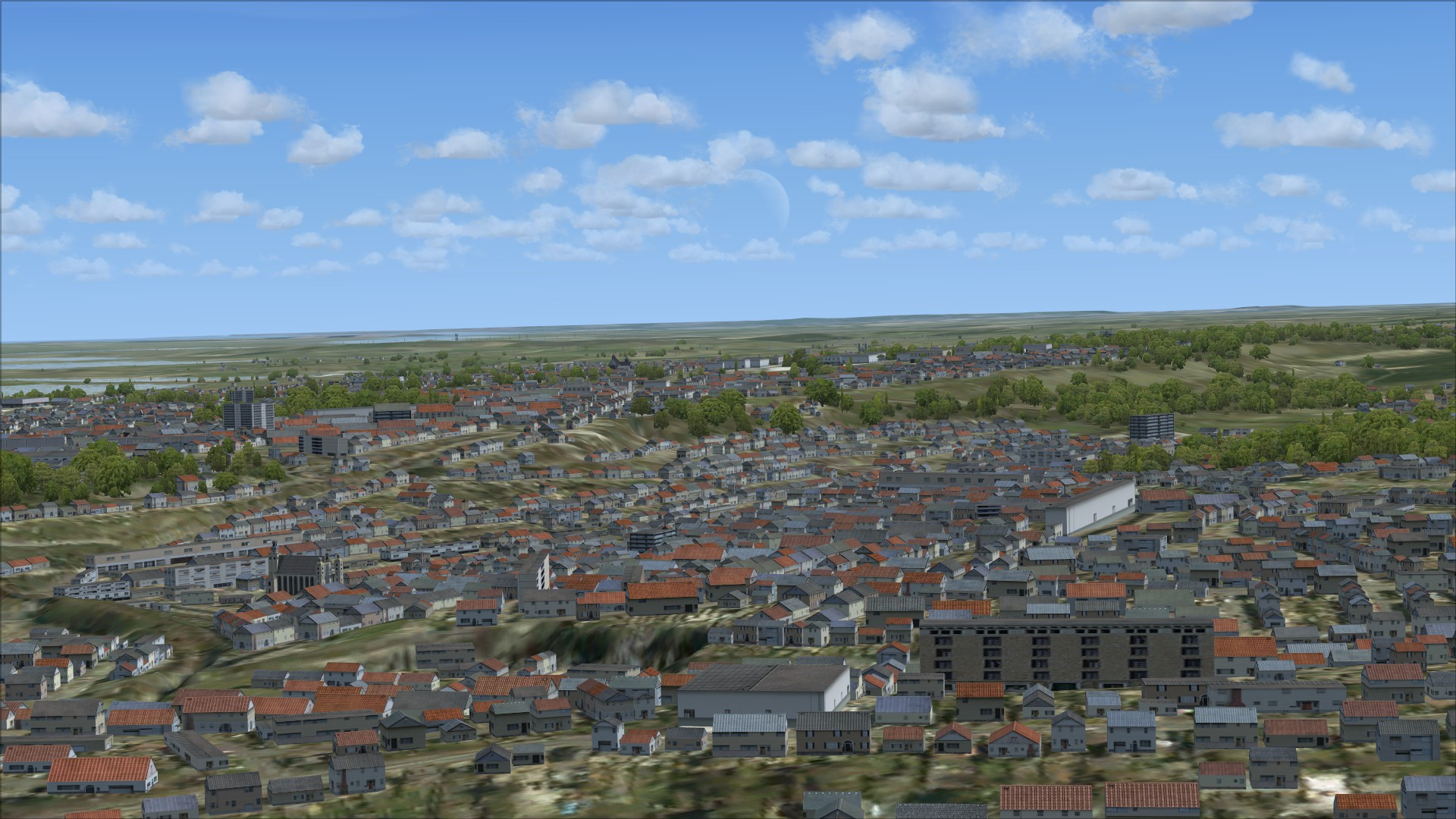 FSX Steam Edition: VFR Real Scenery NexGen 3D - Vol. 1: Southern England and South Wales Add-On screenshot