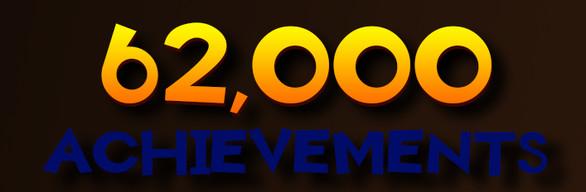 +62,000 ACHIEVEMENTS