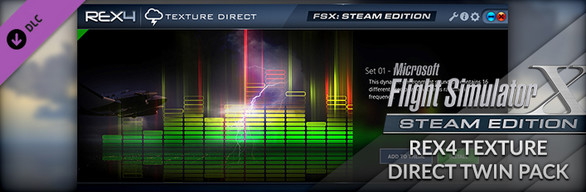FSX Steam Edition + REX4 Texture Direct Twin Pack