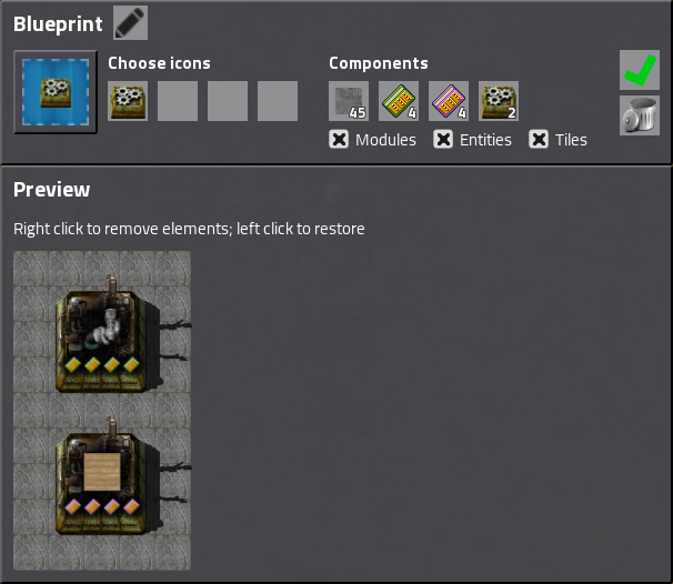 Factorio friday facts 170 blueprint library gui design and this is the window you see when you first create a blueprint or when you open ablueprint item by right clicking it it really is the same as it always was malvernweather Image collections