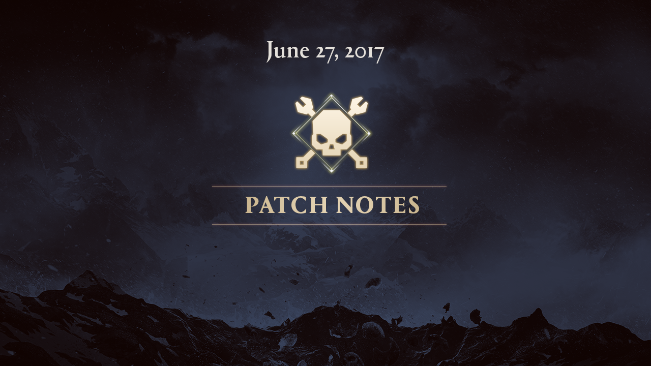 June 27patch notes
