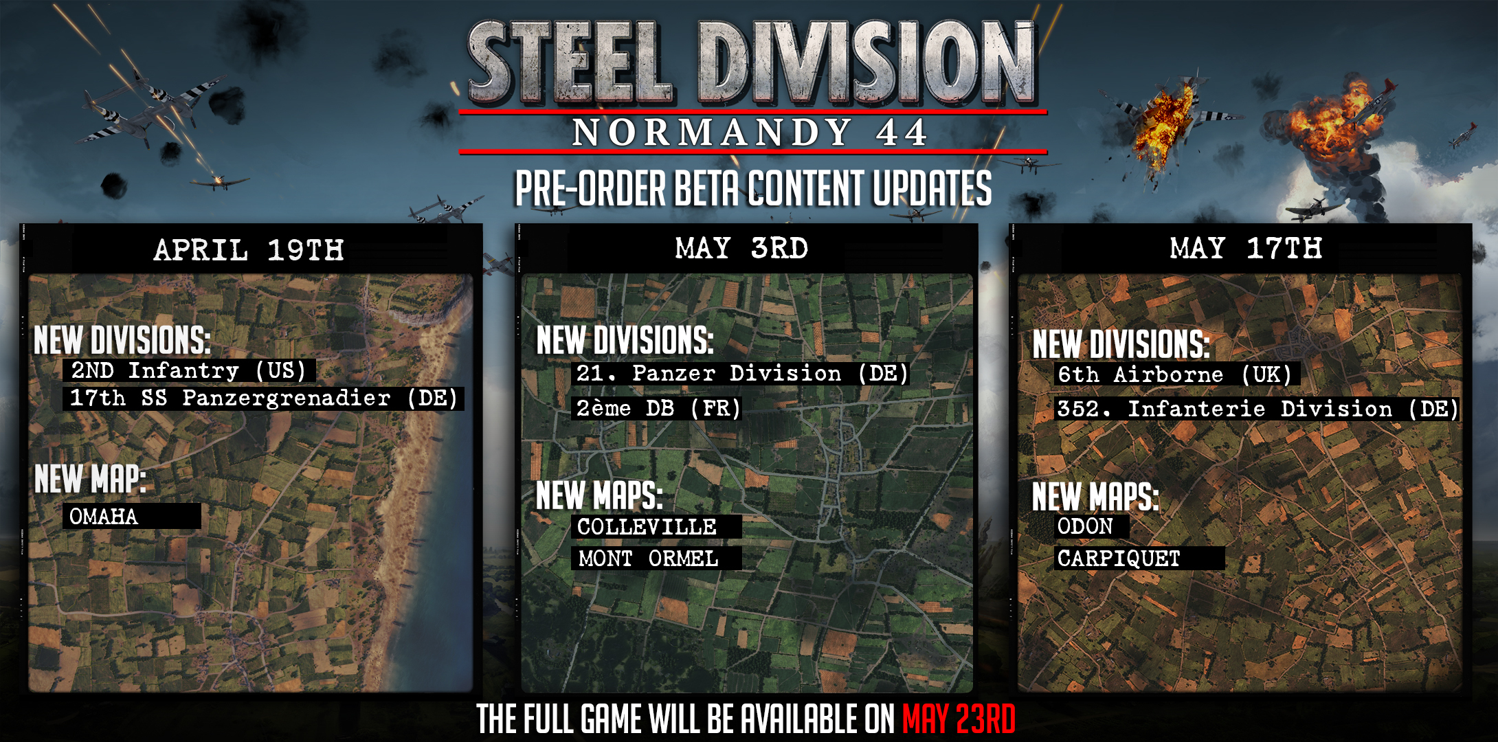 Steam Community Group Announcements Steel Division Normandy - Us steel maps