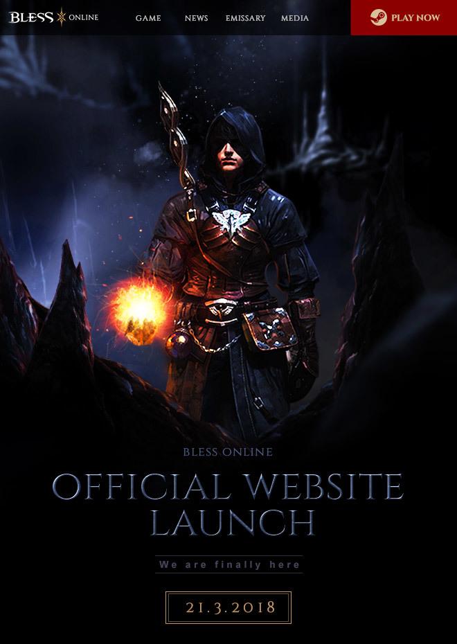 Bless Online. Новый офф сайт станет доступен в марте.