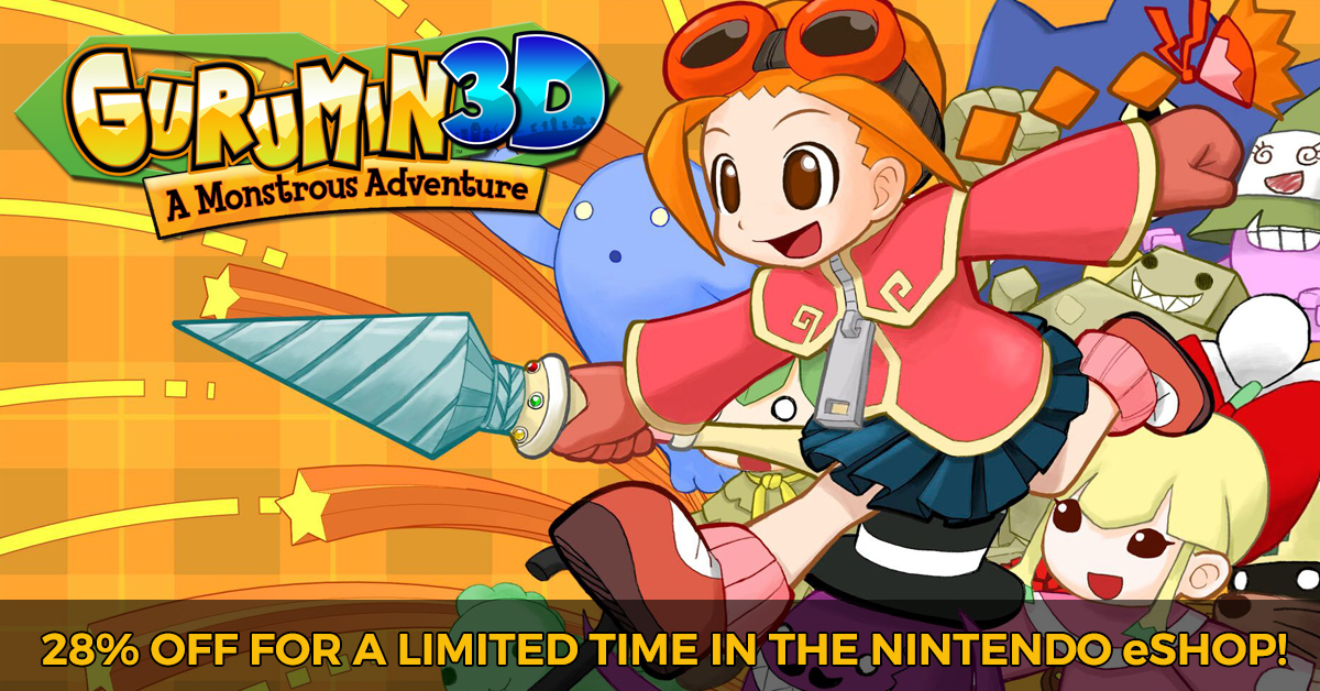 gurumin a monstrous adventure happy new year gurumin 3d now 28 off for a limited time