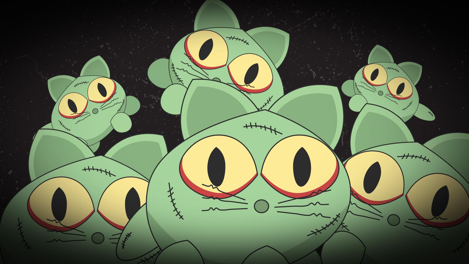 Zombie Cats 4K HD Desktop Wallpaper For Ultra TV Wide