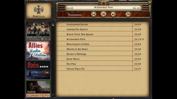Скриншот №3 к Hearts of Iron IV Radio Pack