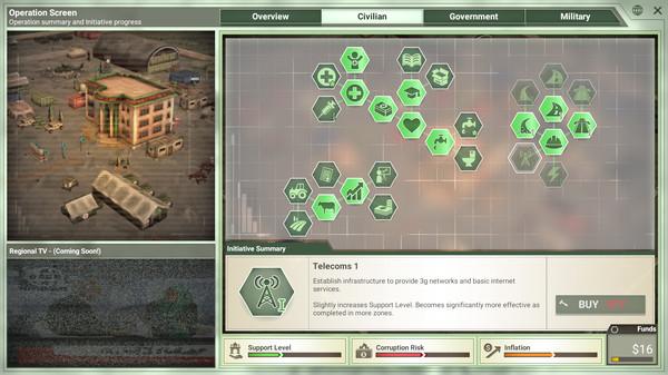 Screenshot of Rebel Inc: Escalation