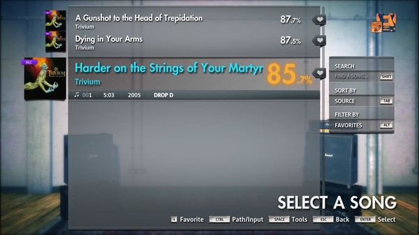 """Скриншот №1 к Rocksmith® 2014 Edition – Remastered – Trivium - """"Pull Harder on the Strings of Your Martyr"""""""