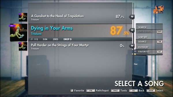 "Скриншот №2 к Rocksmith® 2014 Edition – Remastered – Trivium - ""Dying in Your Arms"""