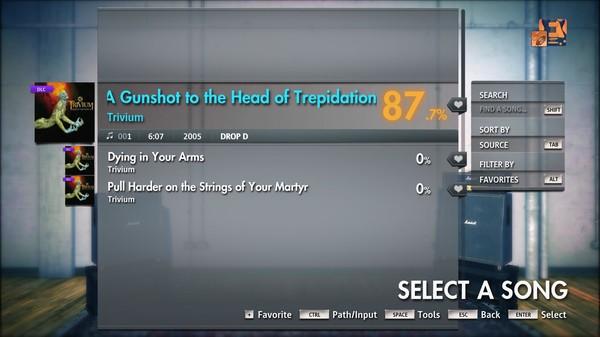 "Скриншот №3 к Rocksmith® 2014 Edition – Remastered – Trivium - ""A Gunshot to the Head of Trepidation"""