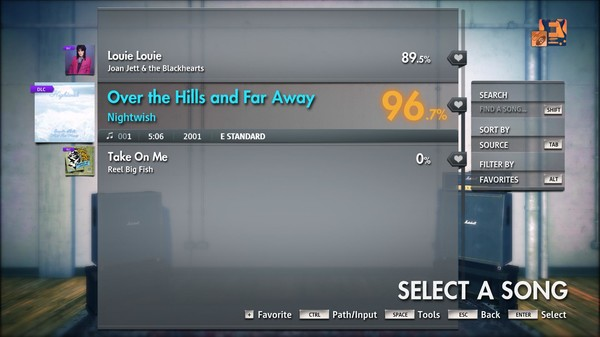 "Скриншот №1 к Rocksmith® 2014 Edition – Remastered – Nightwish - ""Over the Hills and Far Away"""