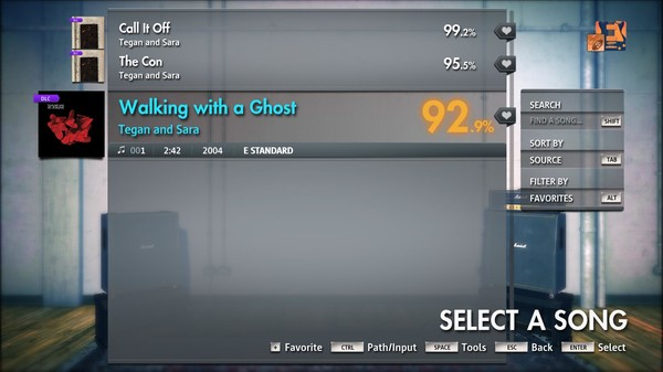 "Скриншот №3 к Rocksmith® 2014 Edition – Remastered – Tegan and Sara - ""Walking with a Ghost"""