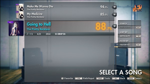 """Скриншот №3 к Rocksmith® 2014 Edition – Remastered – The Pretty Reckless - """"Going to Hell"""""""