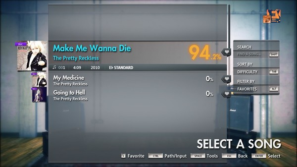 "Скриншот №2 к Rocksmith® 2014 Edition – Remastered – The Pretty Reckless - ""Make Me Wanna Die"""