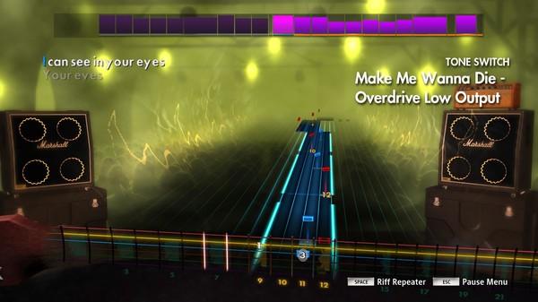 "Скриншот №1 к Rocksmith® 2014 Edition – Remastered – The Pretty Reckless - ""Make Me Wanna Die"""
