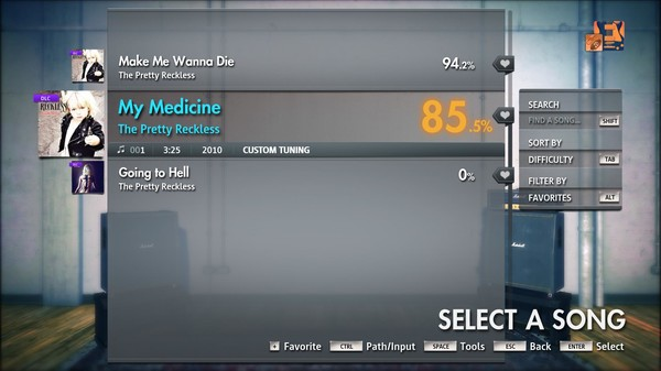 "Скриншот №2 к Rocksmith® 2014 Edition – Remastered – The Pretty Reckless - ""My Medicine"""