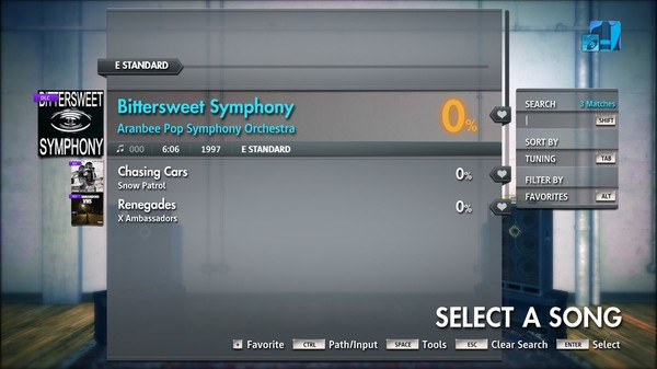 "Скриншот №2 к Rocksmith® 2014 Edition – Remastered – Aranbee Pop Symphony Orchestra - ""Bittersweet Symphony"""
