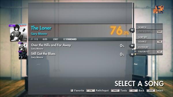 """Скриншот №2 к Rocksmith® 2014 Edition – Remastered – Gary Moore - """"The Loner"""""""