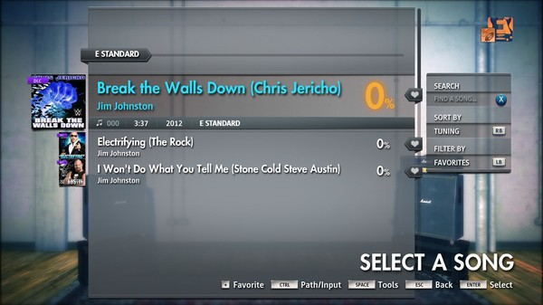 "Скриншот №3 к Rocksmith® 2014 Edition – Remastered – Jim Johnston - ""Break the Walls Down Chris Jericho"
