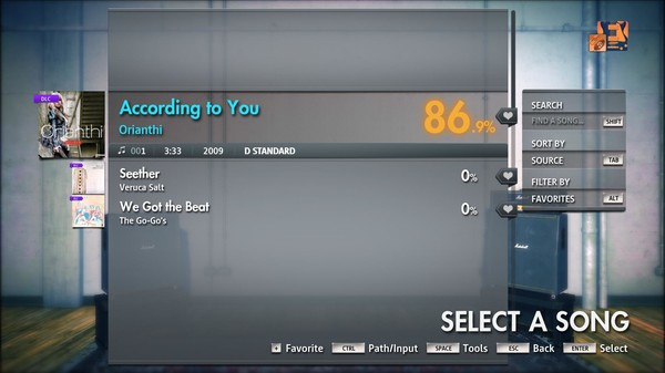 "Скриншот №1 к Rocksmith® 2014 Edition – Remastered – Orianthi - ""According to You"""