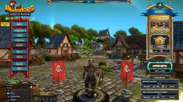 Warriors: Rise to Glory! Online Multiplayer Open Beta Screenshot