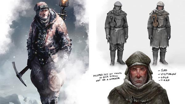 Скриншот №1 к Frostpunk Digital Artbook