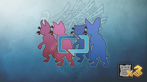Скриншот №1 к Monster Hunter World - Талон изменения палико три талона
