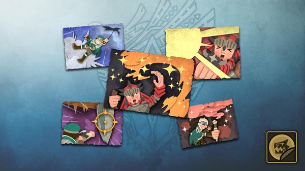 Скриншот №1 к Monster Hunter World - Набор стикеров набор предметов охотника