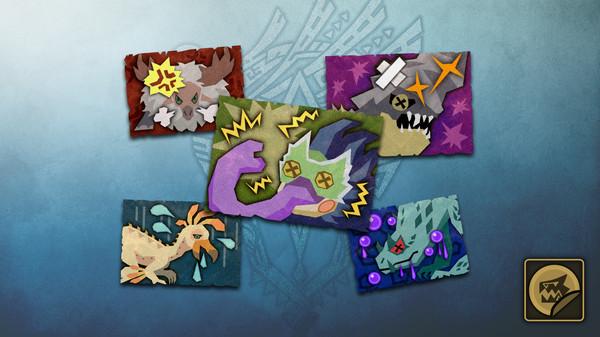 Скриншот №1 к Monster Hunter World - Набор стикеров набор статусов чудовищ