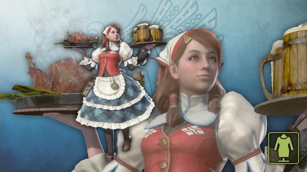 Скриншот №1 к Monster Hunter World - Костюм девушки-проводника Кокото