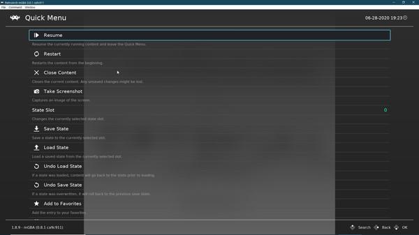 Скриншот №6 к RetroArch