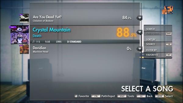 "Скриншот №2 к Rocksmith® 2014 Edition – Remastered – Death - ""Crystal Mountain"""