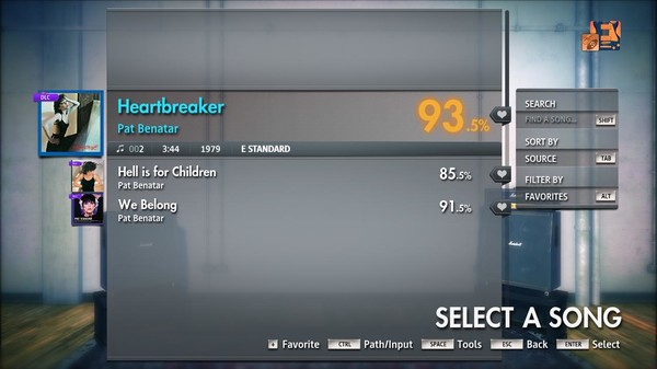 "Скриншот №3 к Rocksmith® 2014 Edition – Remastered – Pat Benatar - ""Heartbreaker"""