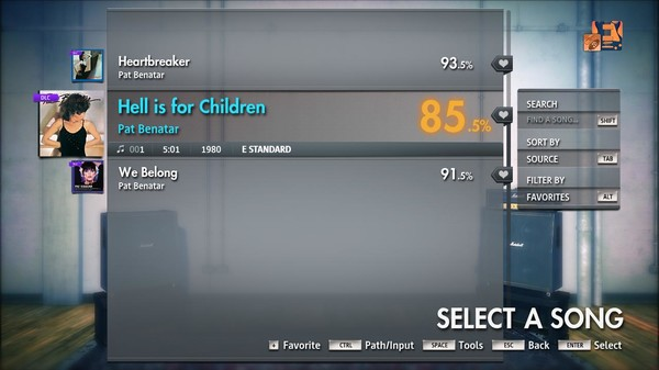 "Скриншот №3 к Rocksmith® 2014 Edition – Remastered – Pat Benatar - ""Hell is for Children"""