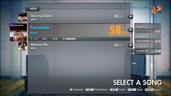 "Скриншот №1 к Rocksmith® 2014 Edition – Remastered – ABBA - ""Fernando"""