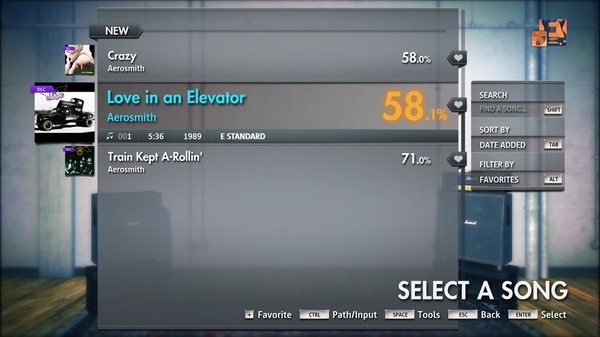 "Скриншот №3 к Rocksmith® 2014 Edition – Remastered – Aerosmith - ""Love in an Elevator"""