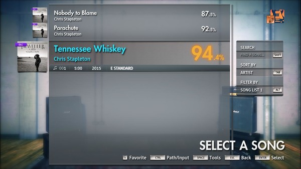 "Скриншот №2 к Rocksmith® 2014 Edition – Remastered – Chris Stapleton - ""Tennessee Whiskey"""