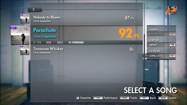"Скриншот №1 к Rocksmith® 2014 Edition – Remastered – Chris Stapleton - ""Parachute"""