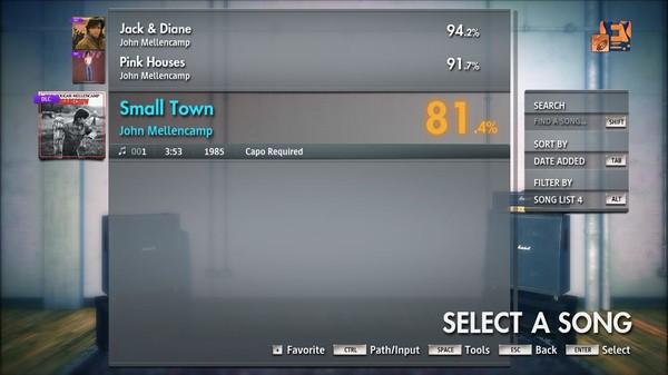 "Скриншот №3 к Rocksmith® 2014 Edition – Remastered – John Mellencamp - ""Small Town"""