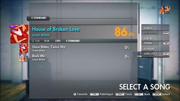 "Скриншот №4 к Rocksmith® 2014 Edition – Remastered – Great White - ""House of Broken Love"""