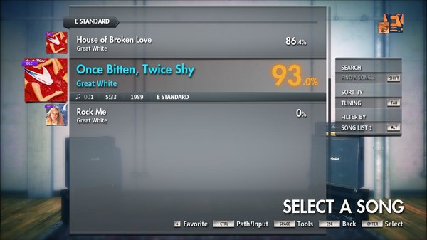 "Скриншот №3 к Rocksmith® 2014 Edition – Remastered – Great White - ""Once Bitten Twice Shy"""