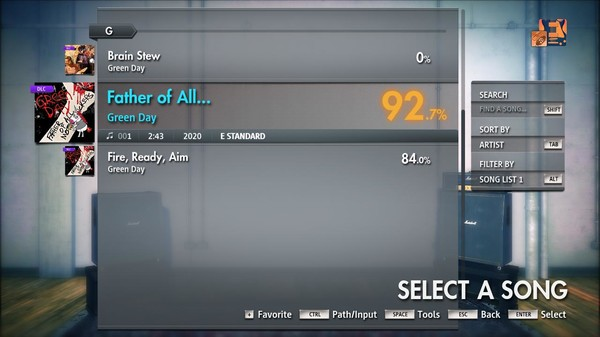 """Скриншот №3 к Rocksmith® 2014 Edition – Remastered – Green Day - """"Father of All..."""""""