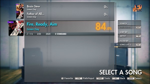 "Скриншот №3 к Rocksmith® 2014 Edition – Remastered – Green Day - ""Fire Ready Aim"""