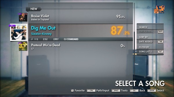 """Скриншот №4 к Rocksmith® 2014 Edition – Remastered – Sleater-Kinney - """"Dig Me Out"""""""