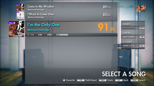 "Скриншот №1 к Rocksmith® 2014 Edition – Remastered – Melissa Etheridge - ""Im the Only One"""