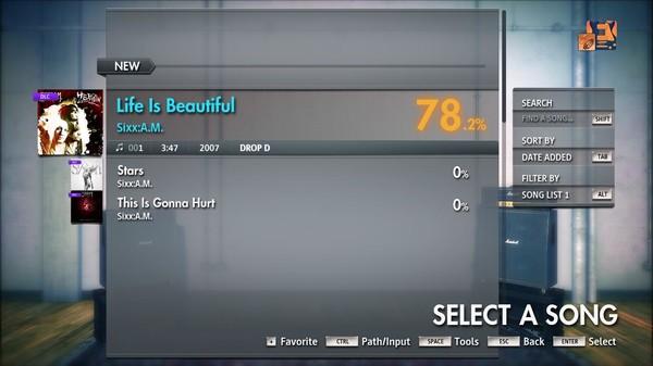 """Скриншот №3 к Rocksmith® 2014 Edition – Remastered – SixxA.M. - """"Life Is Beautiful"""""""