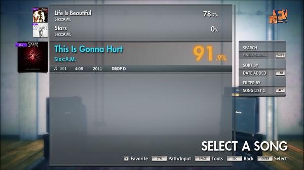 "Скриншот №2 к Rocksmith® 2014 Edition – Remastered – SixxA.M. - ""This Is Gonna Hurt"""