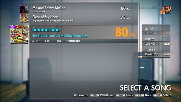 "Скриншот №5 к Rocksmith® 2014 Edition – Remastered – Janis JoplinBig Brother  The Holding Co. - ""Summertime"""